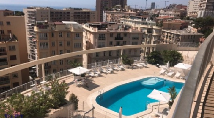 New 1 bedroom flat with panoramic sea view, pool